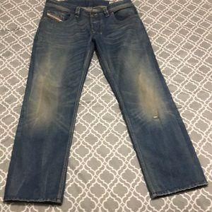 Men's Diesel Larkee Jeans Heavily Altered Sz. 34